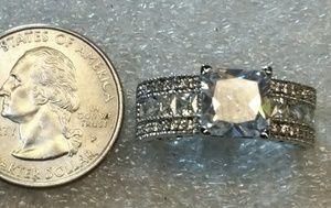 Jewelry - White sapphire princess cut set in .925 silver